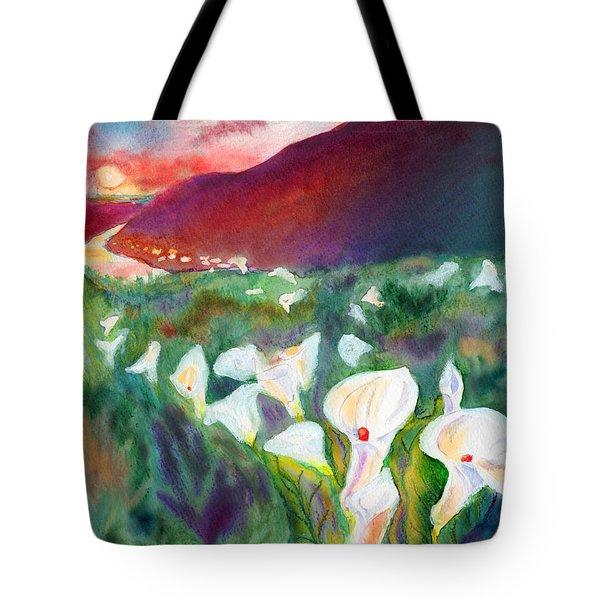 Coastal Callas Tote Bag