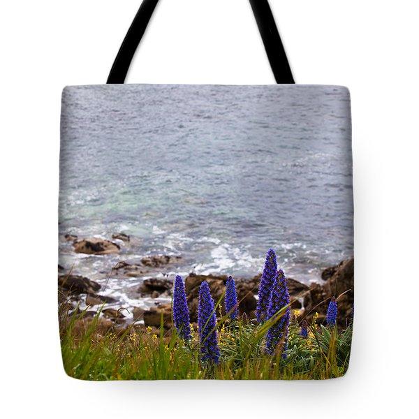 Coastal Cliff Flowers Tote Bag by Melinda Ledsome