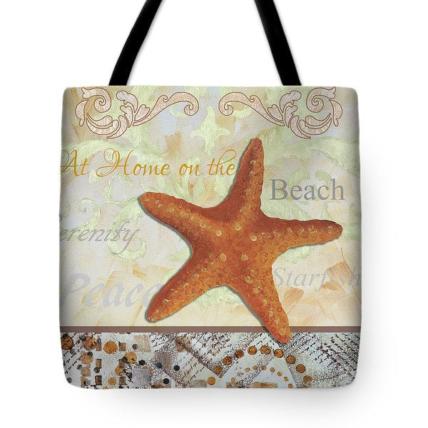 Coastal Decorative Starfish Painting Decorative Art By Megan Duncanson Tote Bag