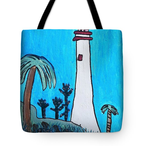 Coastal Lighthouse Tote Bag by Artists With Autism Inc