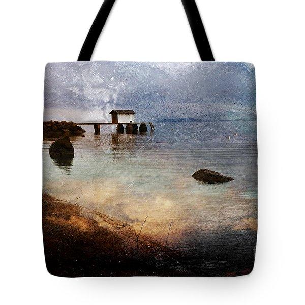 Coastal Path Tote Bag by Randi Grace Nilsberg