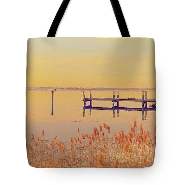 Coastal Winter Tote Bag