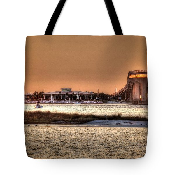 Cobalt And Bridge Tote Bag by Michael Thomas
