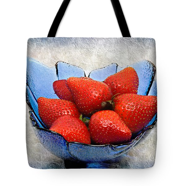 Cobalt Blue Berry Boat Tote Bag by Andee Design