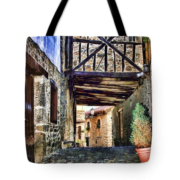Cobble Streets Of Potes Spain By Diana Sainz Tote Bag