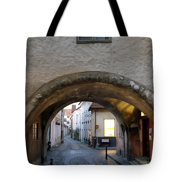 Cobblestone And Arcade Tote Bag by Ladi  Kirn