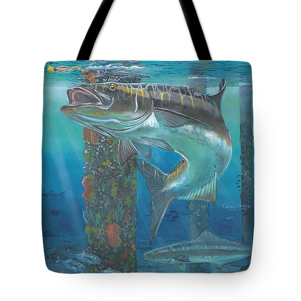 Cobia Strike In0024 Tote Bag