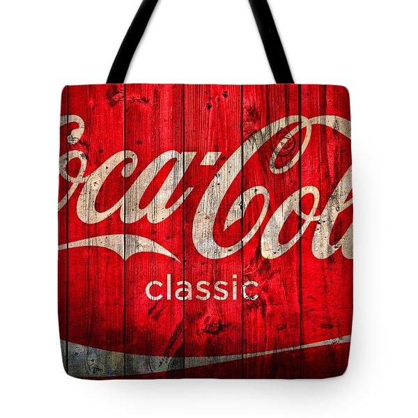 Coca Cola Barn Tote Bag by Dan Sproul