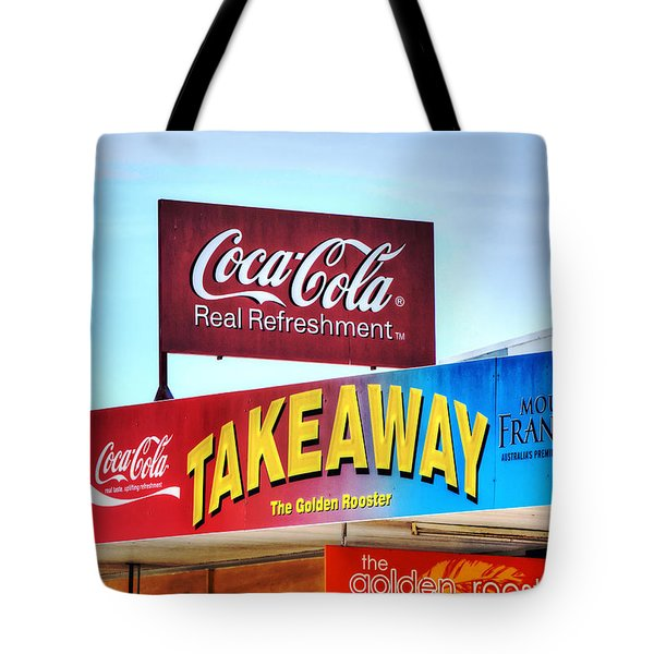 Coca-cola - Old Shop Signage Tote Bag by Kaye Menner