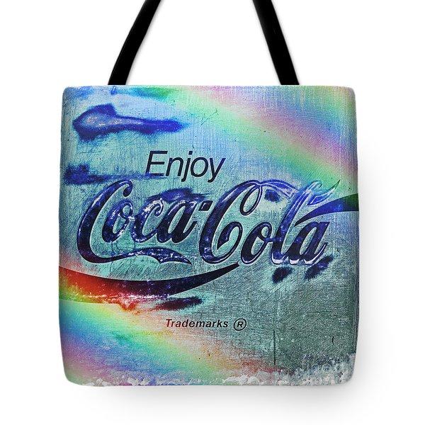 Coca Cola Rainbow Tote Bag
