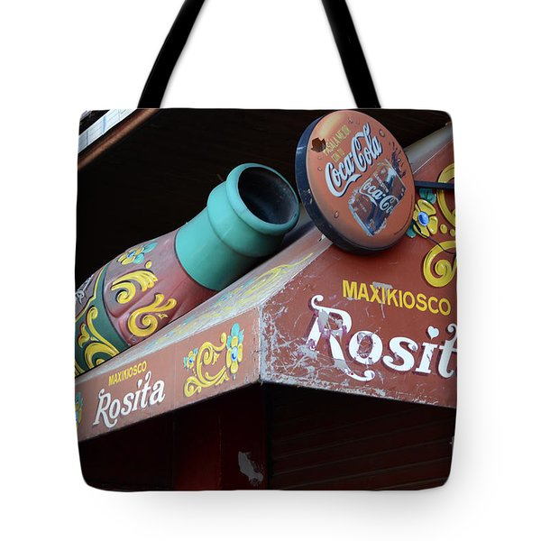 Coca Cola Sign Buenos Aires Tote Bag by Bob Christopher