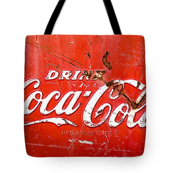 Tote Bag featuring the photograph Coca-cola Sign by Jill Reger