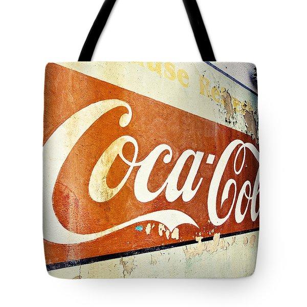 Coca Cola Sign  Tote Bag by Scott Pellegrin