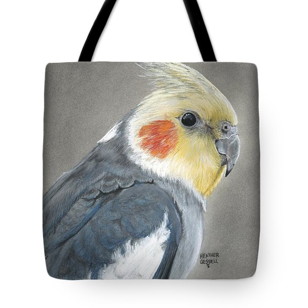 Cockatiel Tote Bag by Heather Gessell