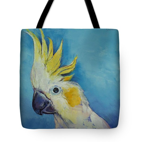 Cockatoo Tote Bag by Michael Creese