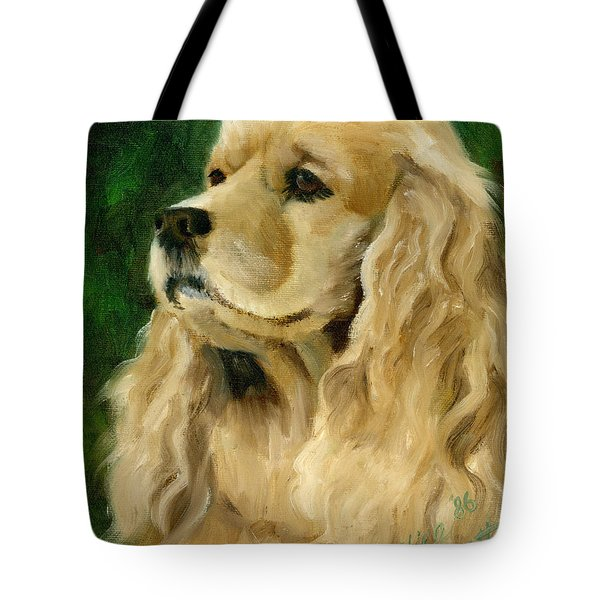 Cocker Spaniel Dog Tote Bag by Alice Leggett