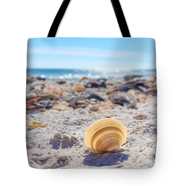 Tote Bag featuring the photograph Cockle Shell Summer At Sanibel by Peta Thames