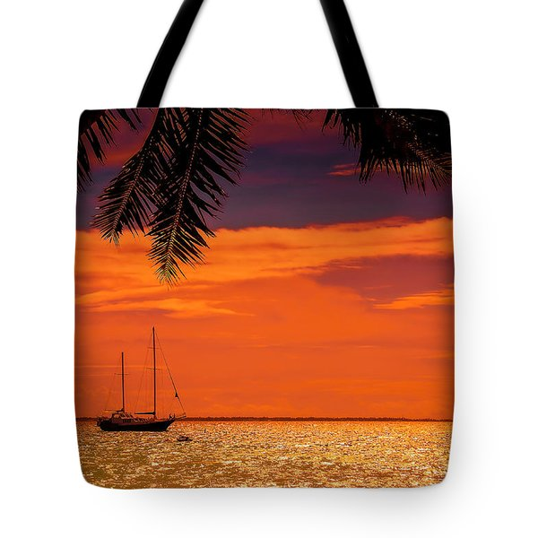 Cocktail Tropical Dream Tote Bag by Jenny Rainbow