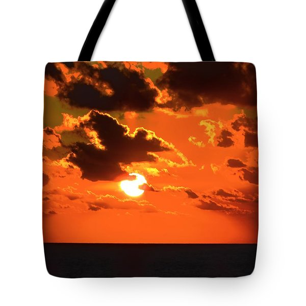 Tote Bag featuring the photograph Coco Cay Sunset by Jennifer Wheatley Wolf