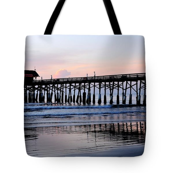 Cocoa Beach Pier In Early Morning Tote Bag