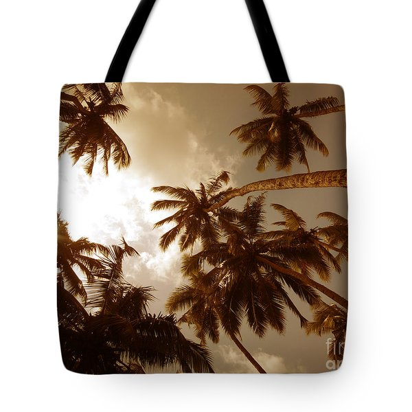 Coconut Palms Tote Bag by Mini Arora
