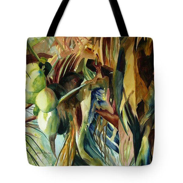Coconuts And Palm Fronds 5-16-11 Julianne Felton Tote Bag