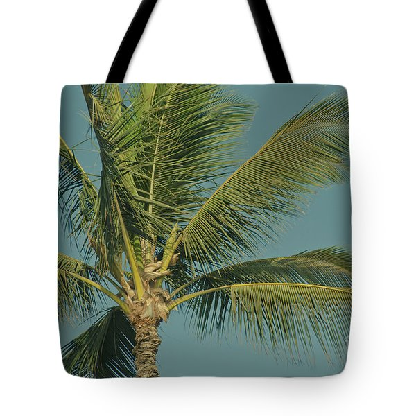 Cocos Nucifera - Niu - Palma - Po'olenalena Beach Maui Hawaii Tote Bag by Sharon Mau
