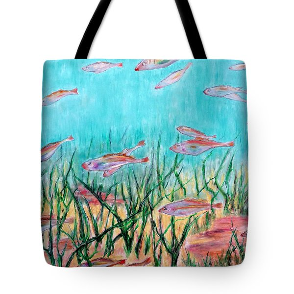 Cod In The Grass Tote Bag