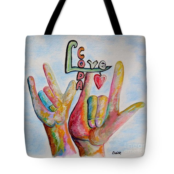 Coda - Children Of Deaf Adults Tote Bag