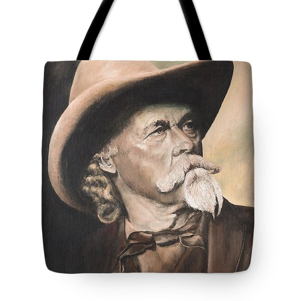 Tote Bag featuring the painting Cody - Western Gentleman by Mary Ellen Anderson