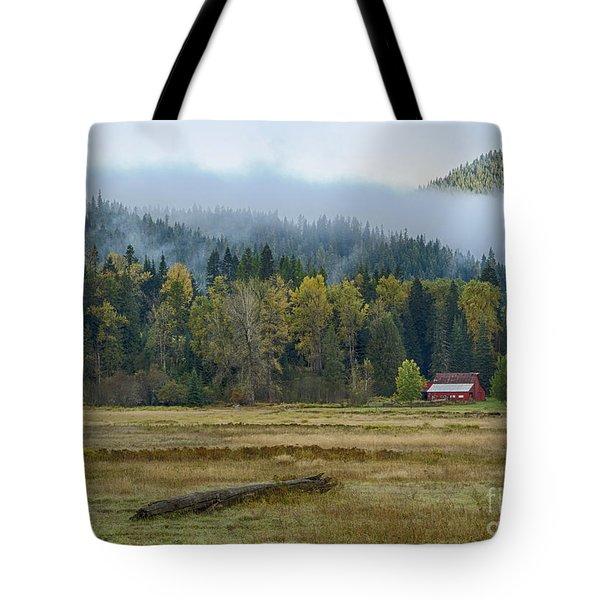 Coeur D Alene River Farm Tote Bag by Idaho Scenic Images Linda Lantzy