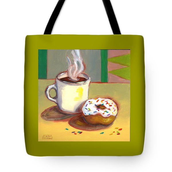 Coffee And Donut Tote Bag