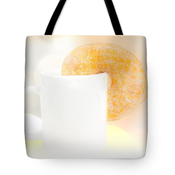 Coffee And Donuts Two Tote Bag by Bob Orsillo