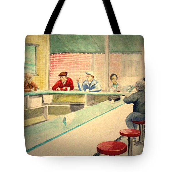 Coffee And Doughnuts Tote Bag by Stacy C Bottoms