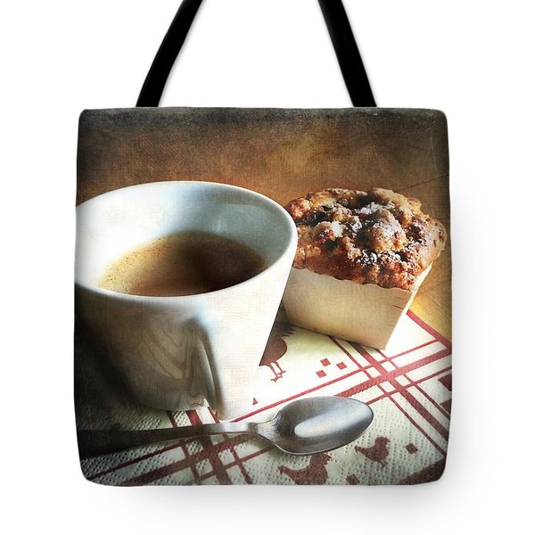 Coffee And Muffin Tote Bag by Barbara Orenya