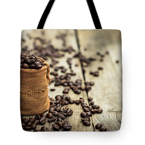 Coffee Beans Tote Bag by Aged Pixel