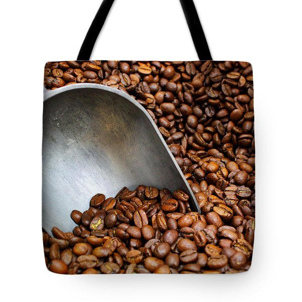 Coffee Beans With Scoop Tote Bag by Jason Politte
