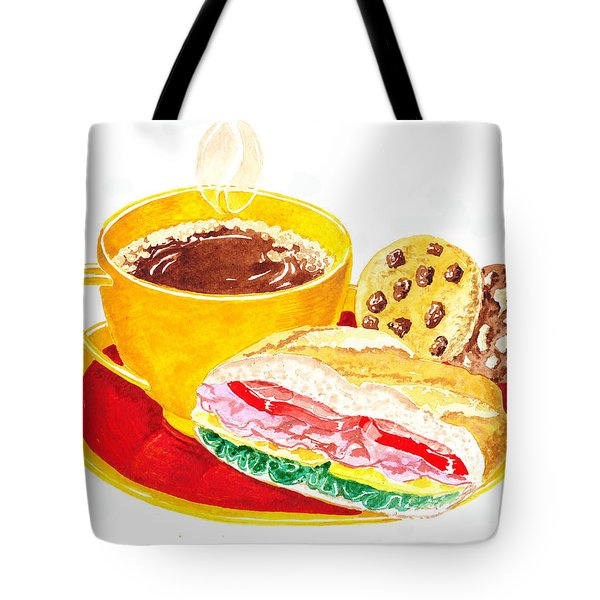 Coffee Cookies Sandwich Lunch Tote Bag