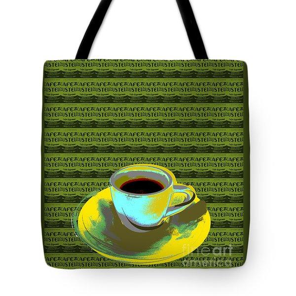Coffee Cup Pop Art Tote Bag