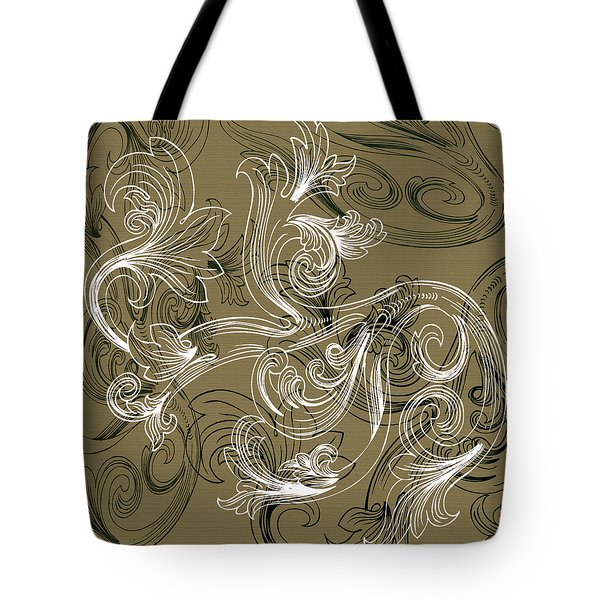 Coffee Flowers 2 Olive Tote Bag