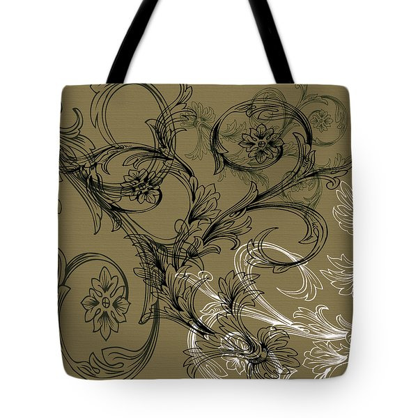 Coffee Flowers 3 Olive Tote Bag by Angelina Vick