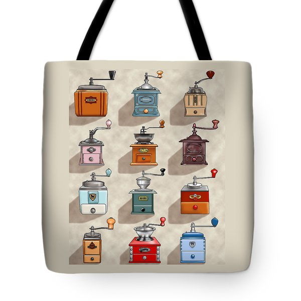 Coffee Grinder Wall Tote Bag