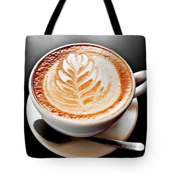 Coffee Latte With Foam Art Tote Bag by Elena Elisseeva