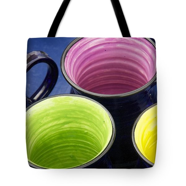 Tote Bag featuring the photograph Coffee Mugs by Stuart Litoff