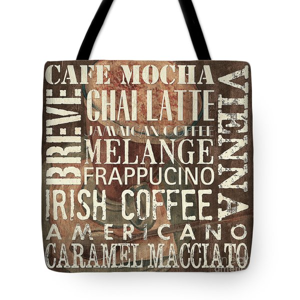Coffee Of The Day 1 Tote Bag by Debbie DeWitt