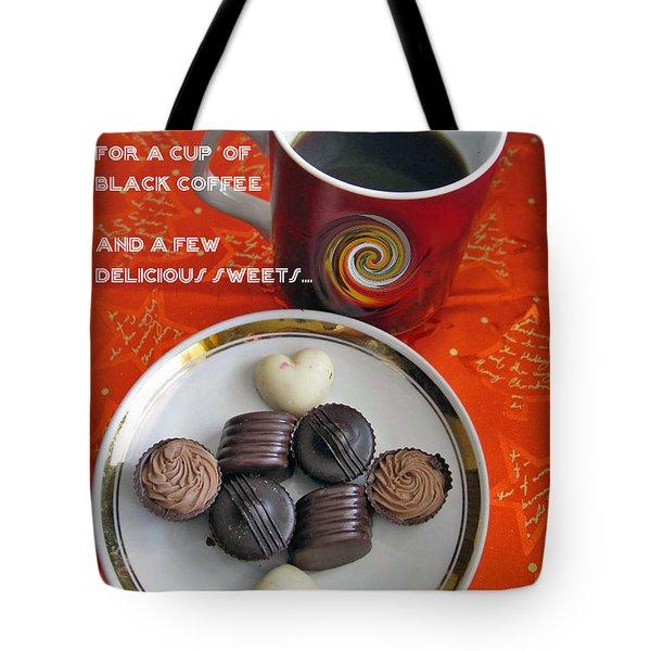 Tote Bag featuring the photograph Coffee Season by Ausra Huntington nee Paulauskaite