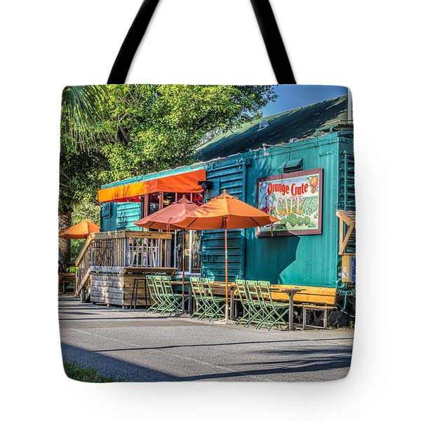 Coffee Shop Tote Bag by Jane Luxton