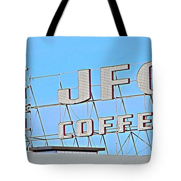 Coffee Sign Tote Bag