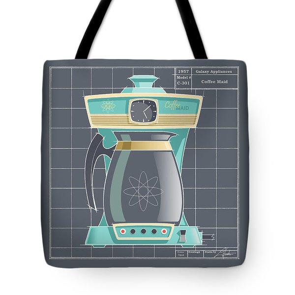 Coffeemaid -aqua Tote Bag