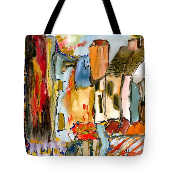 Tote Bag featuring the painting Cognac And Chablis by Lesley Fletcher